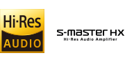 Logotipos de High-Resolution Audio y S-Master HX™